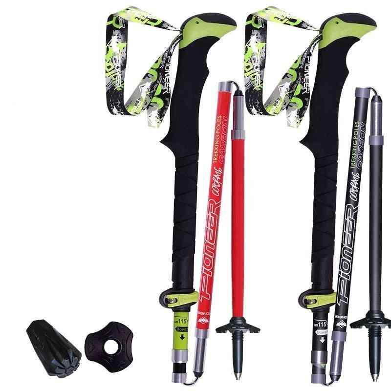 1 Piece- Trekking Pole, Folding Collapsible, Trail Running, Walking Stick