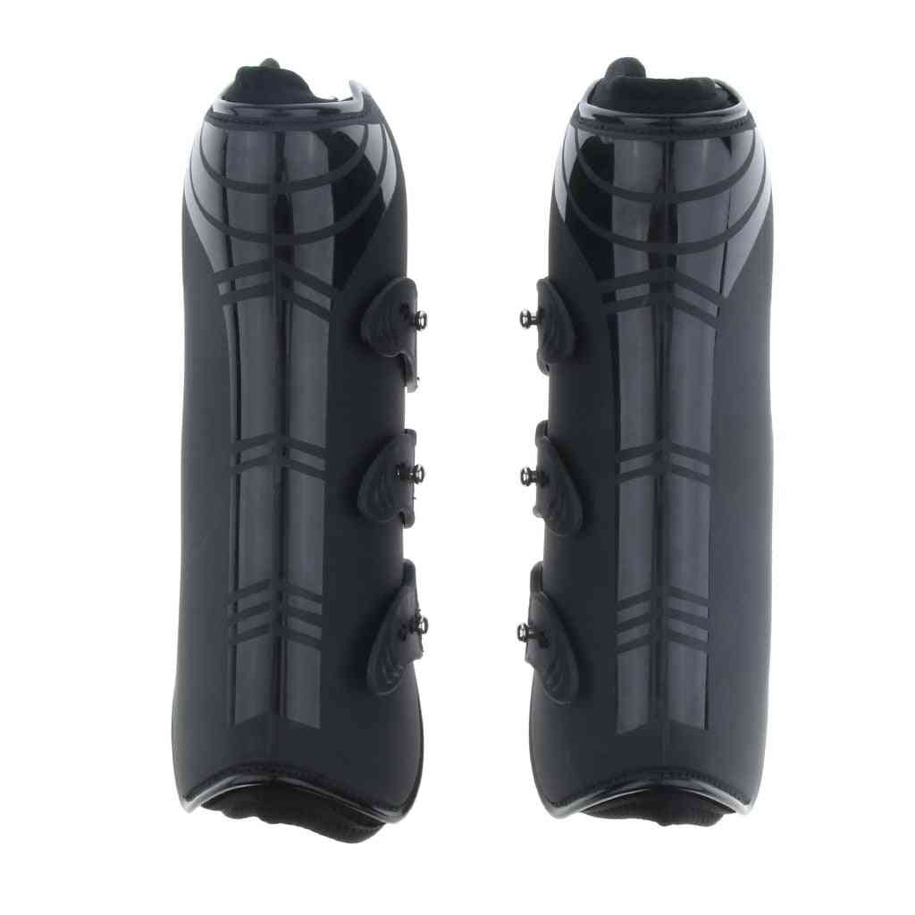 2 Pack Equine Horse Leg Boots, Leg Tendon Protect Gear For Jumping/training/riding