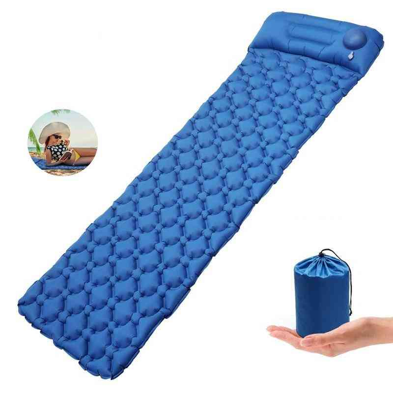 Built-in Pump, Sleeping Pad, Camping Mat With Pillow Hiking Pad, Air Mattress