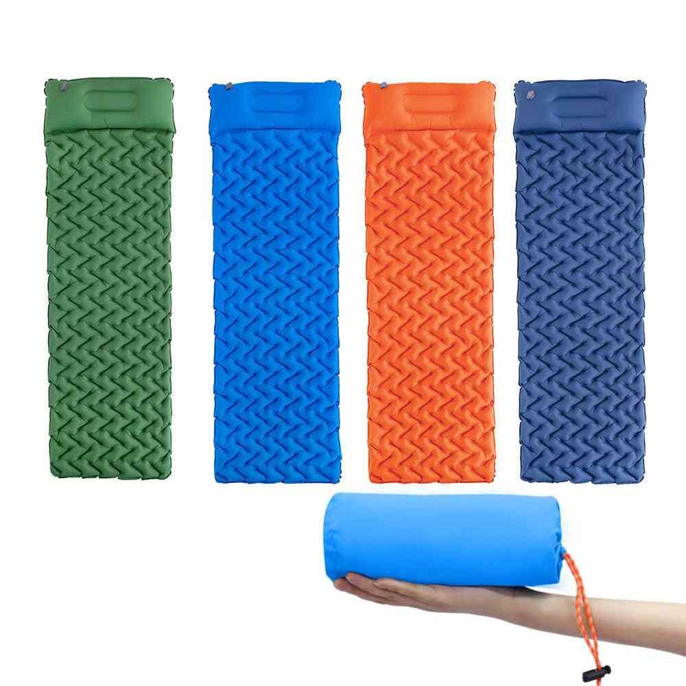 Camping Mattress Sleeping Pad With Pillow Moisture-proof Tent, Mat Air Bed