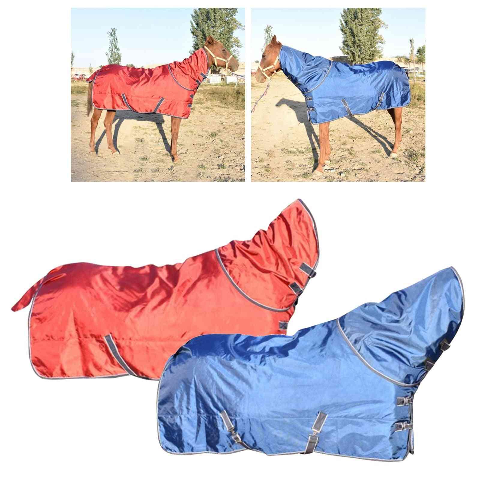 Horse Turnout Sheet Pony Blanket Coat Snowproof Adjustable Horses Warmer