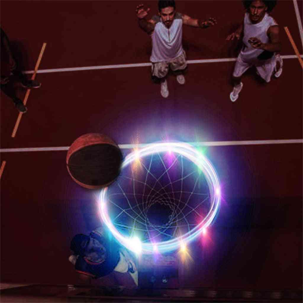 Led Basketball Hoop Light Lamp Shoot Hoops Solar Light Playing At Night Led Strip Lamp