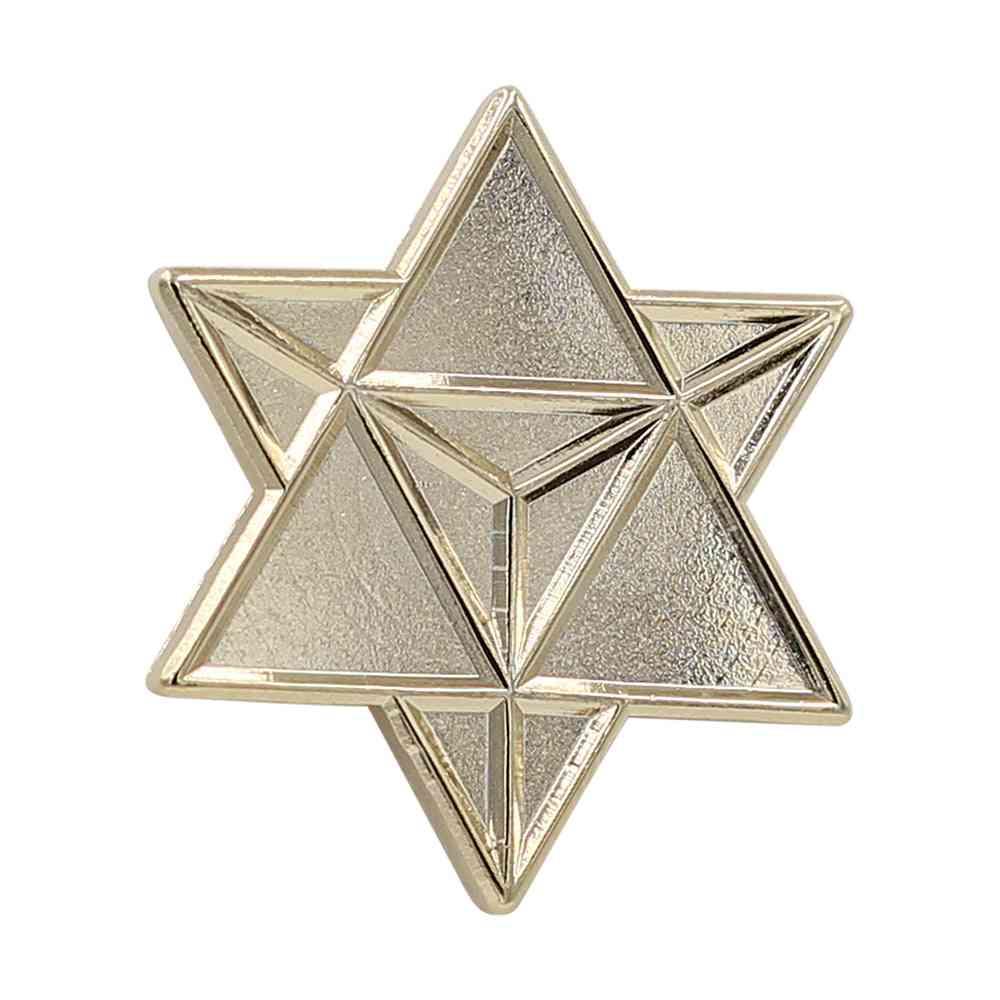 Star Merkaba / Tetrahedron – Enamel Pin (gold)