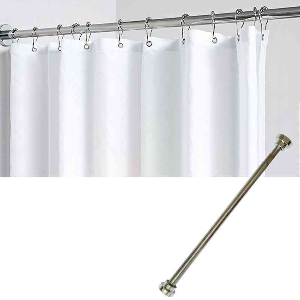 50/ 80cm Stainless Steel Punch Free Kitchen Curtain Bathroom Shower Curtain Rod
