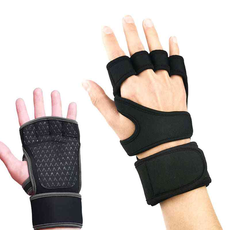 Half Finger, Crossfit Non-slip, Cycling Gym, Weightlifting Gloves