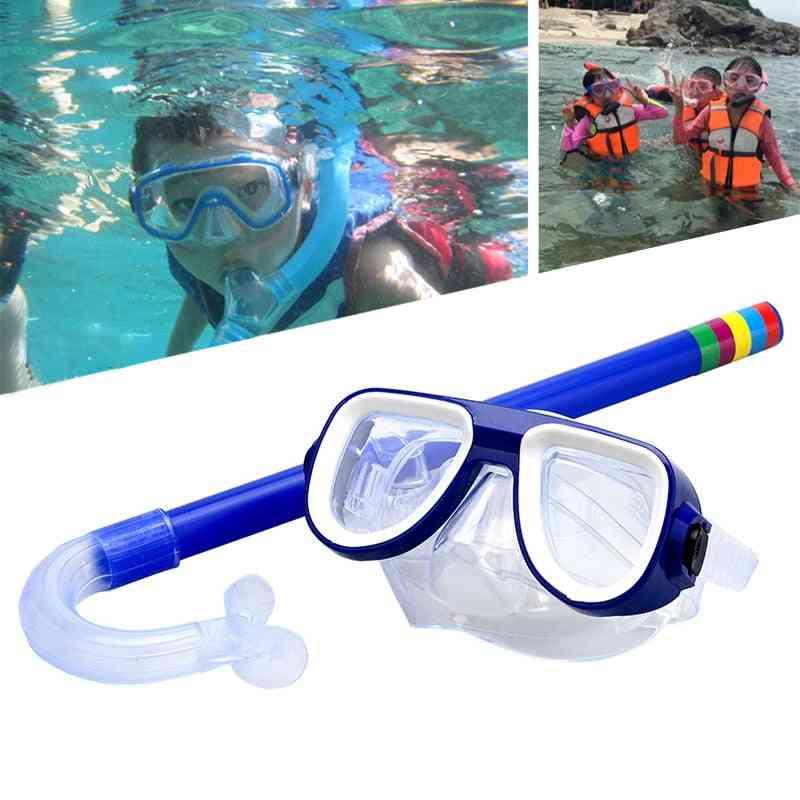 Children Swimming Goggles, Pvc Lens Masks Breathing Tube