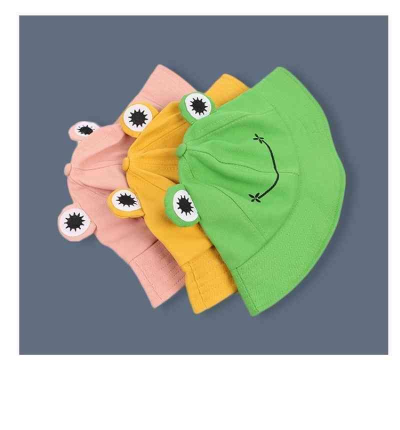 Cute Frog Letter Bucket Hats