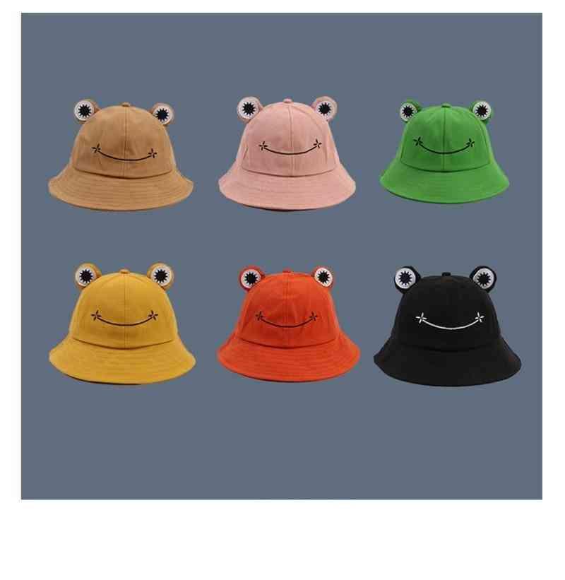Cartoon Frog Bucket Hat  Sun Caps