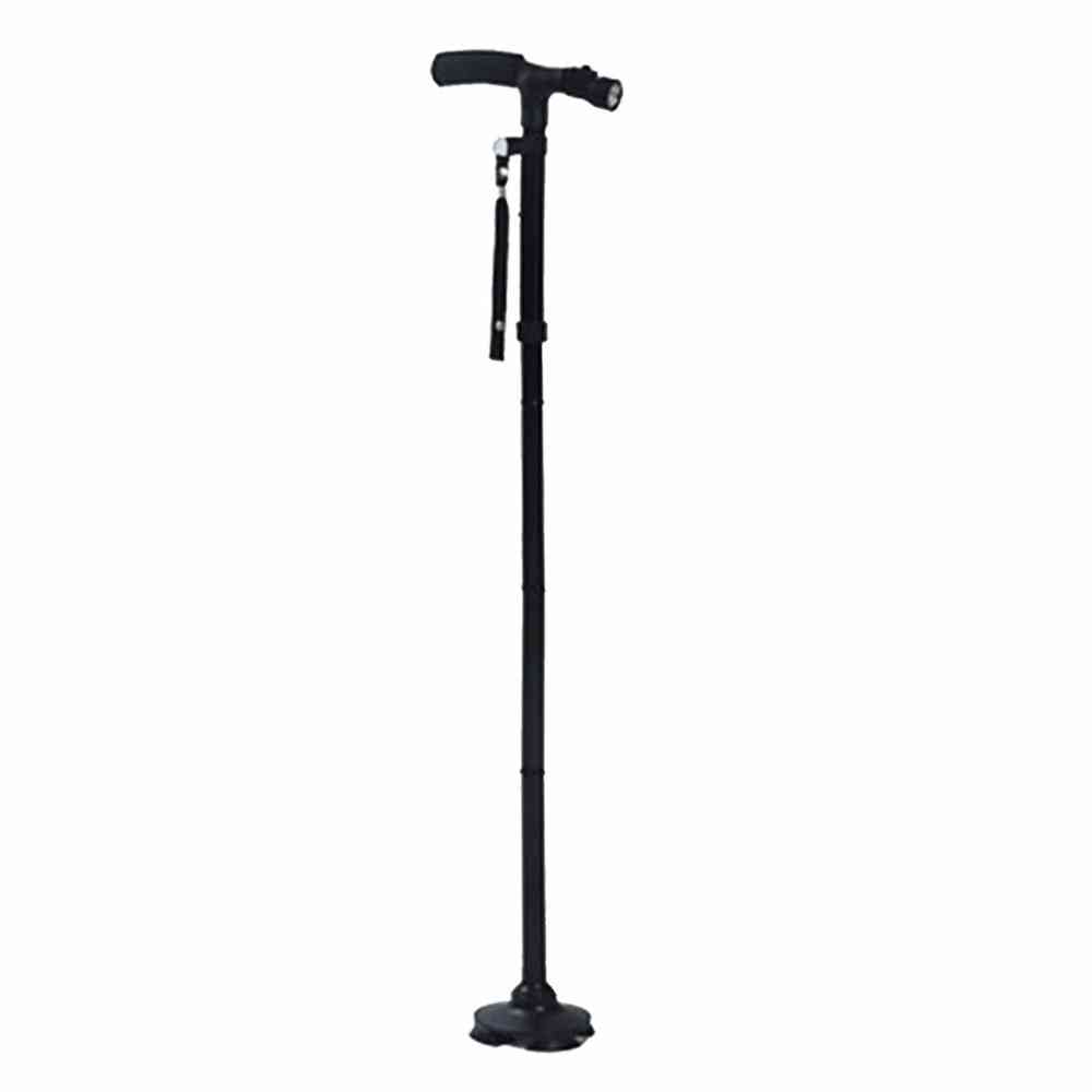Walking Stick, Led Light Canes, Trekking Trail, Hiking Poles, Old Man Ultralight Folding Protector, Adjustable, T Handlebar