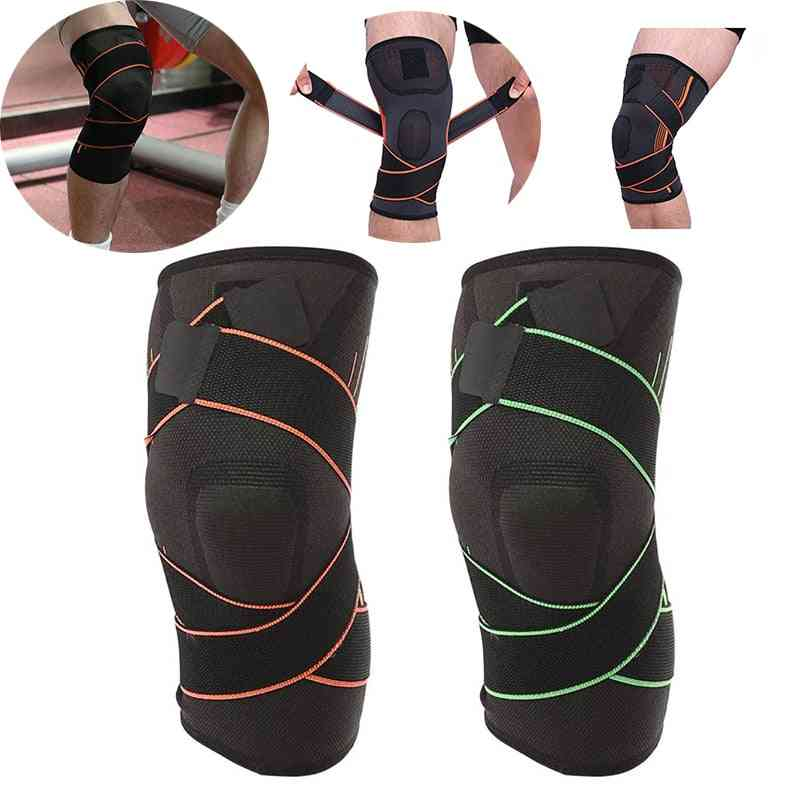 Knee Pads Outdoor Sports Safety  Elastic Brace, Gym Train, Weight Bandage Compression Pad, Sleeve Sport Protection