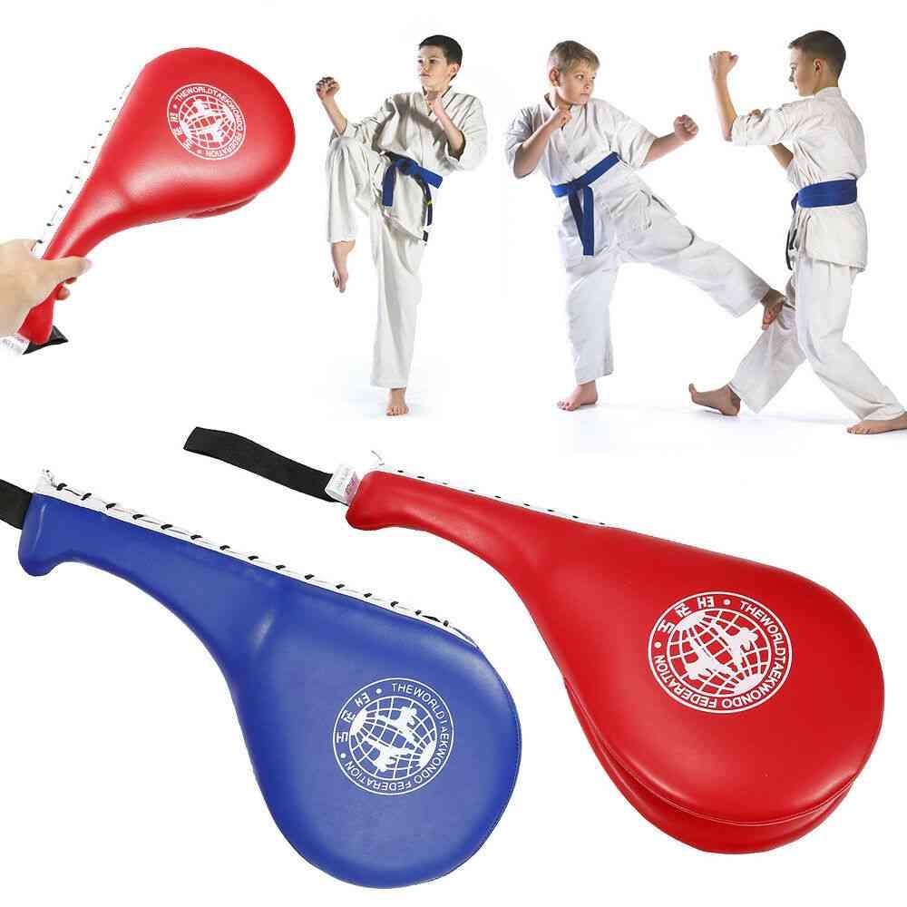 Children Taekwondo Kick Pad, Target Karate Boxing, Kids Training Practise, Leather Hitting Target, Safety Equipment