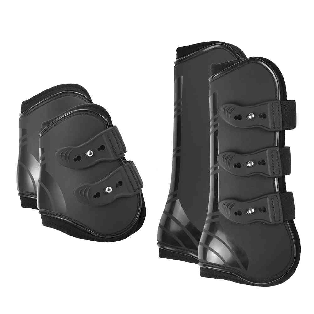 Front Hind Leg Boots, Adjustable Horse Boot, Equine Guard, Equestrian Tendon Protection Hock Brace