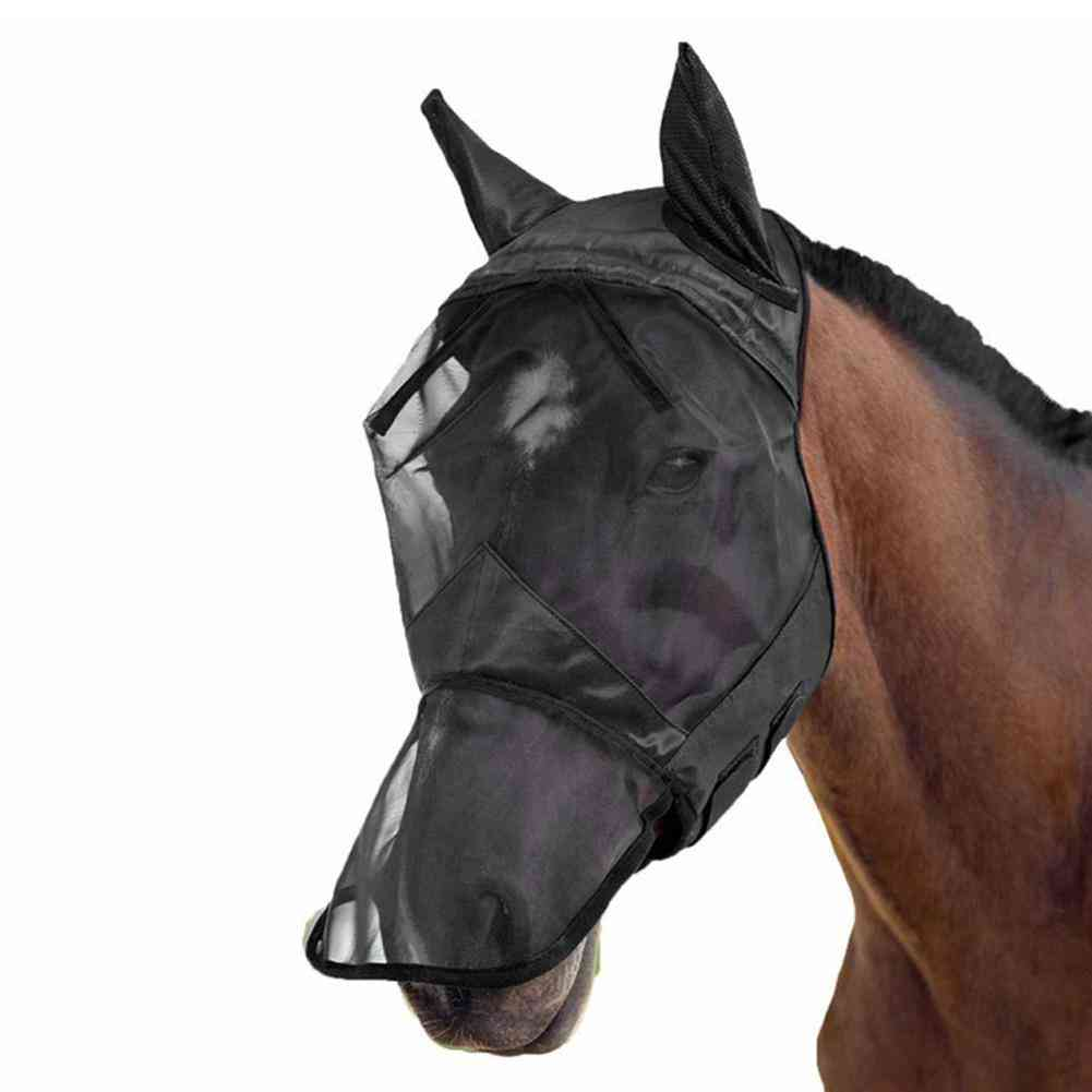 Anti-mosquito Breathable Cozy Horse Face Cover With Ear
