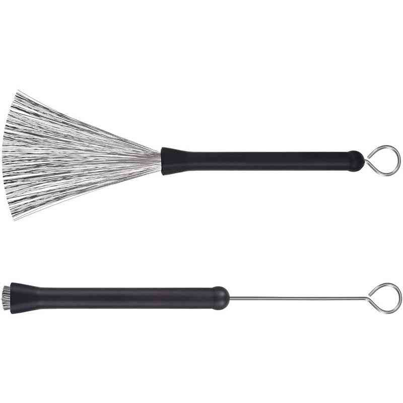 Special Drum Brush For Drum Set, Retractable Steel Wire Drum Brush