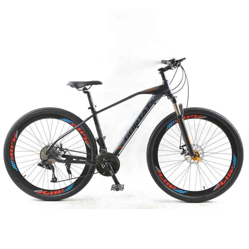 Bicycle Mountain Bike, Road Bikes,  Aluminum Alloy Frame, Variable Speed, Dual Disc Brakes