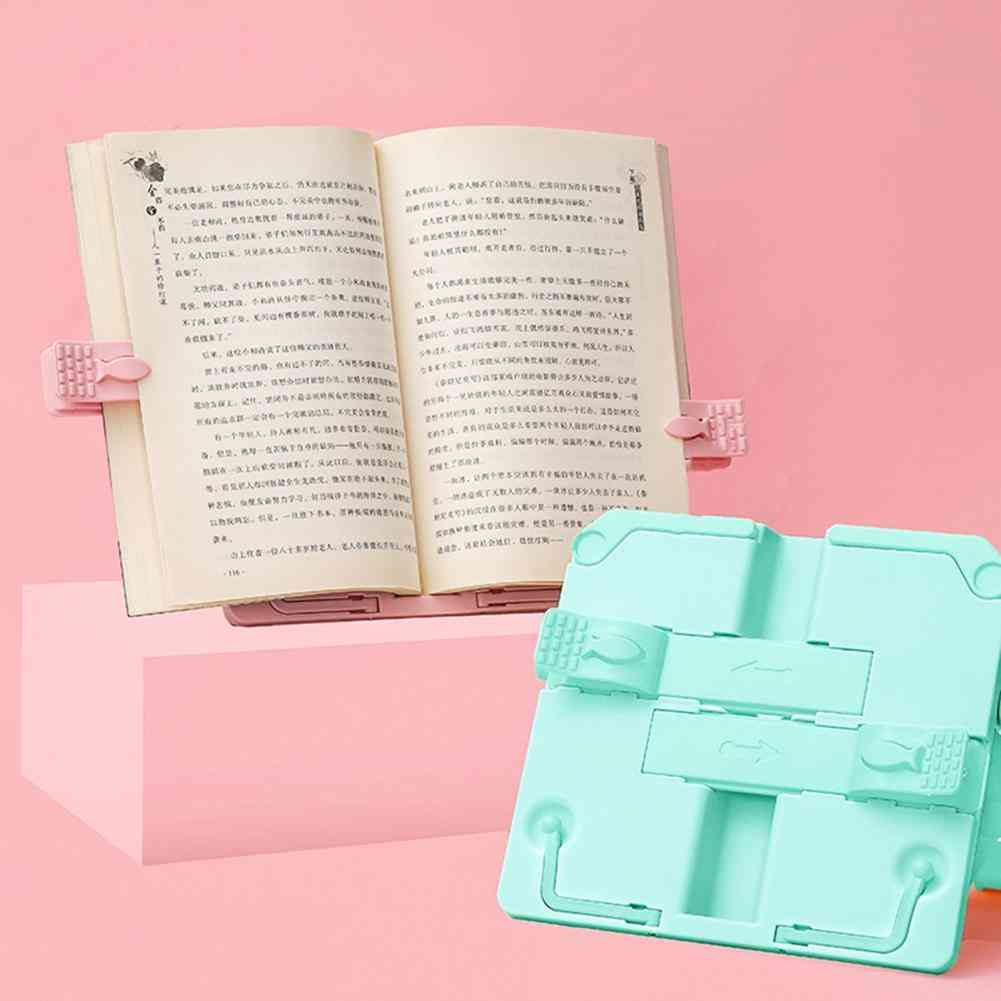 Portable Book Holder Retractable Book Stand Book Reading Holder Bracket