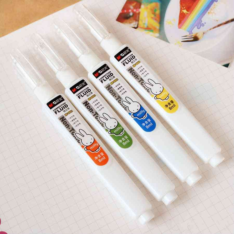 Large Capacity Correction Fluid, Cute Rabbit Writing, Correction Office Or School Stationery Supplies