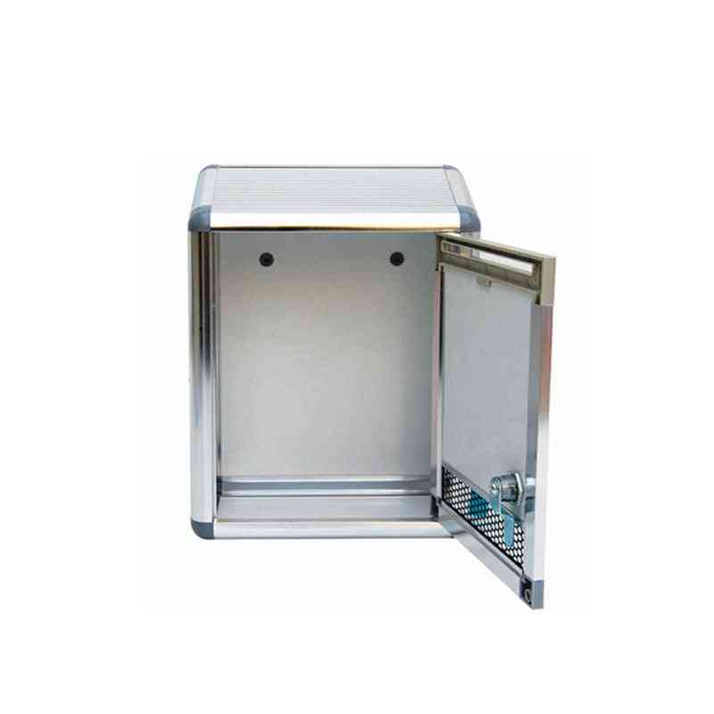 General Manager's Mailbox With Aluminum Alloy Lock, Silver Letterbox