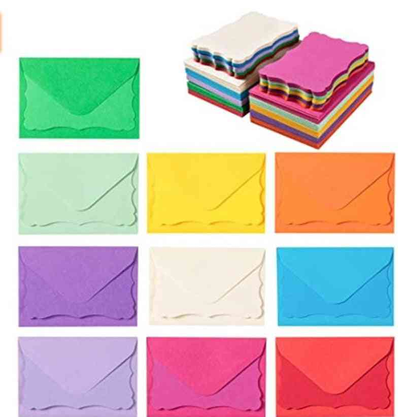 100 Mini Envelopes With Blank Note Cards