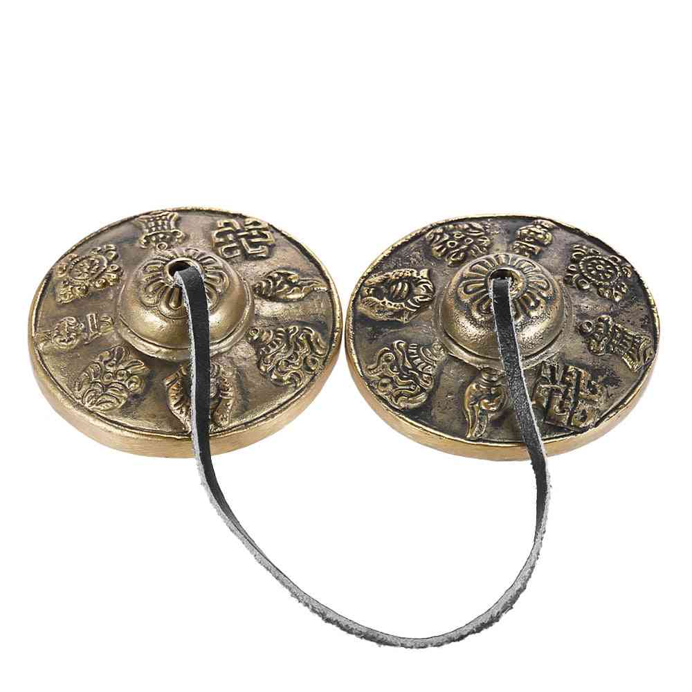 Handcrafted Tibetan Meditation Tingsha Cymbal Bell With Buddhist