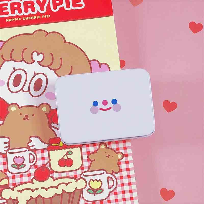 Simple Smiley Face Storage Box Girl Hand Account Tape Sticker Stationery Box