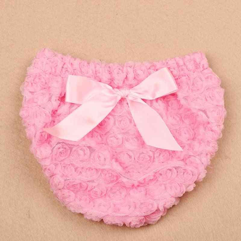 Newborn Bow Ruffle Cotton, Baby Girl Bloomers Diaper Cover Panties