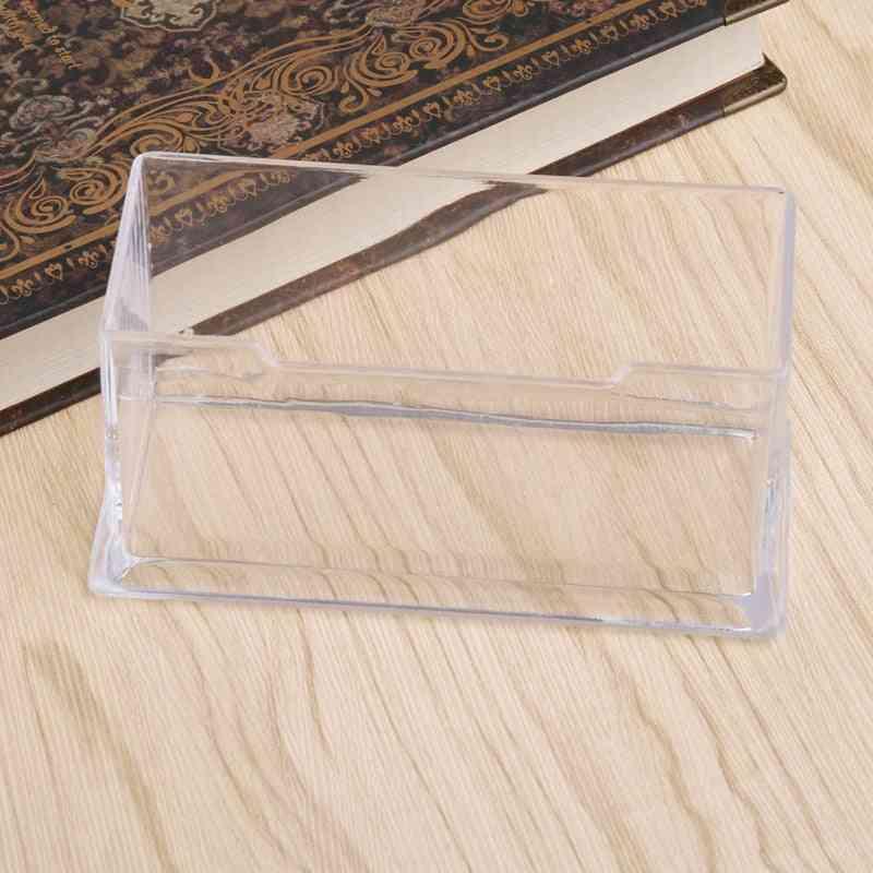 Clear Business Card Holder Display Stand Desk Desktop Counter Card Holder