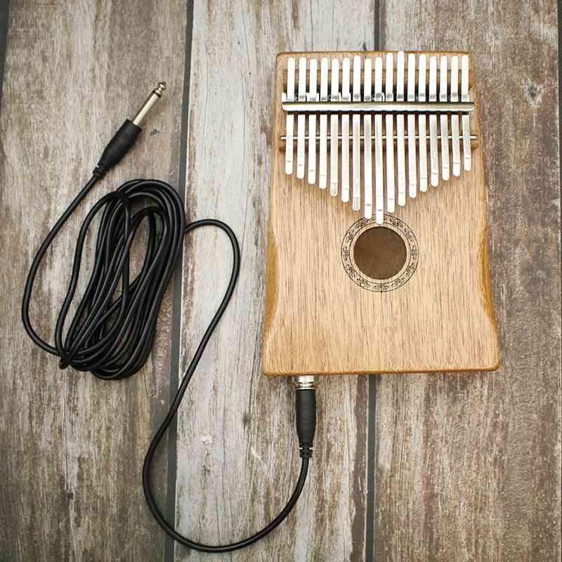 African Solid Pine Mahogany Thumb Finger Piano