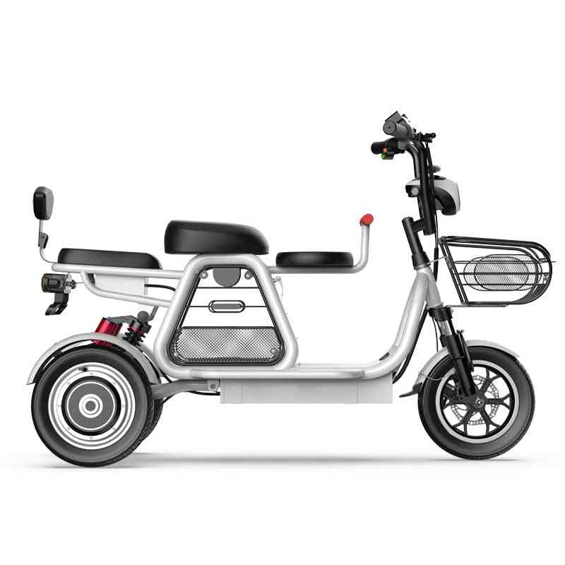 Electric Bike Parent-child 3 Wheels Electric Bicycle Large Lithium Battery