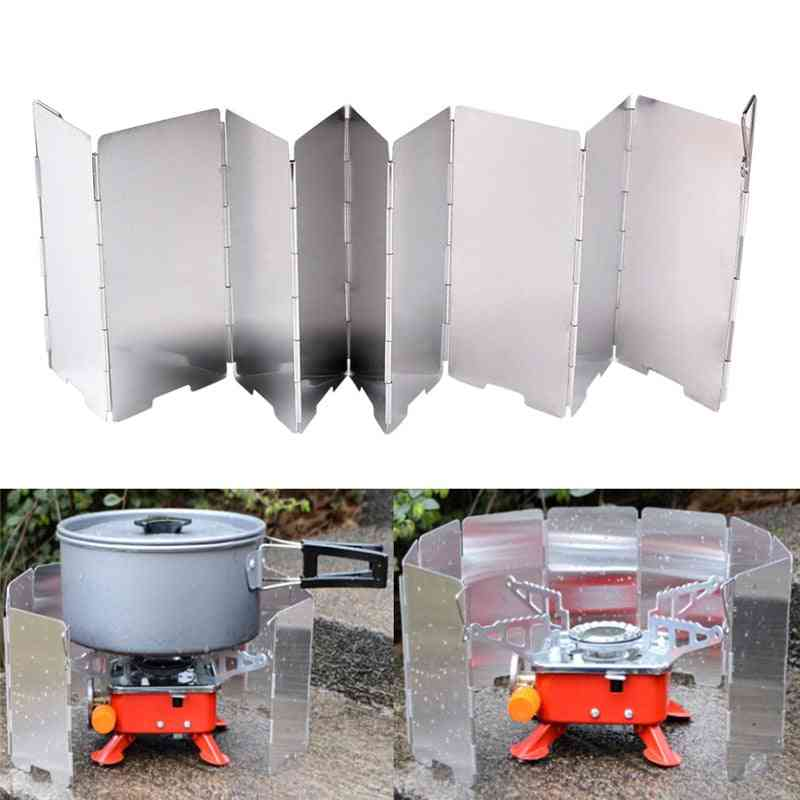 Strong Wind Shield Deflector, Folding Windscreen Guard, Outdoor Camping, Barbecue Picnic Stove Burner, Furnace Protection