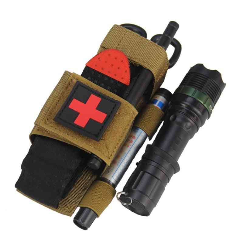 Outdoor First Aid Quick Flashlight Scissors, Hanging Bag, Slow Release Buckle, Medical Military Tactical Emergency Tourniquet Strap