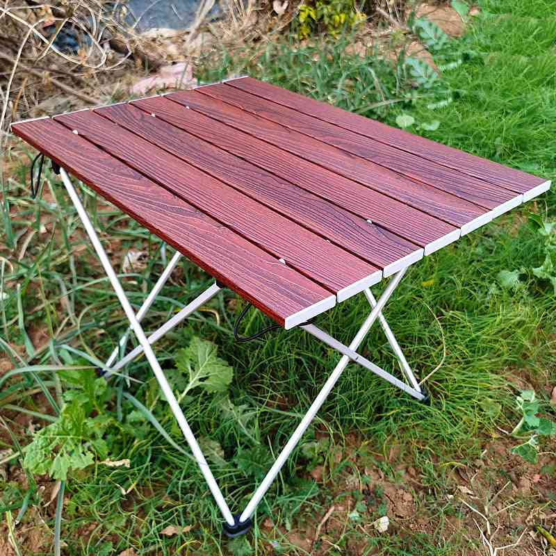 Folding, Camping Table, Portable Aluminum, Lightweight Durable, Compact Roll Up Picnic Tables For Travel, Fishing