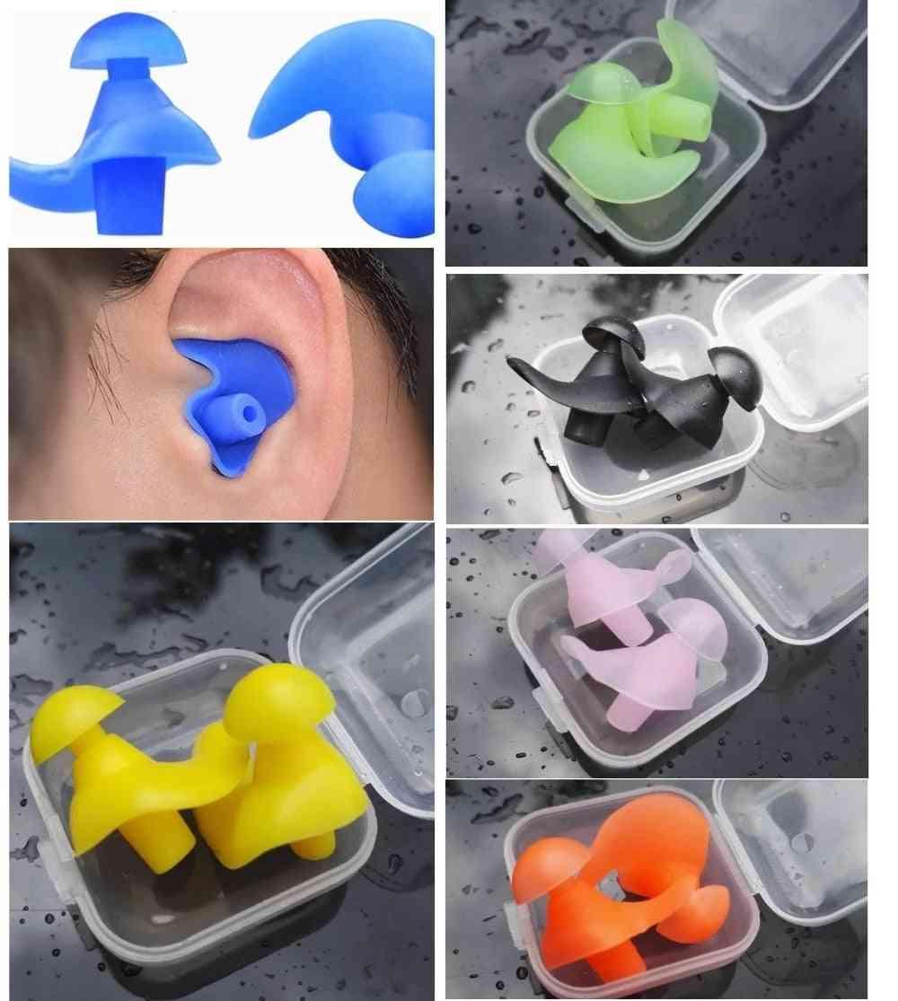Swimming Silicone Waterproof+ Dust-proof Earplugs