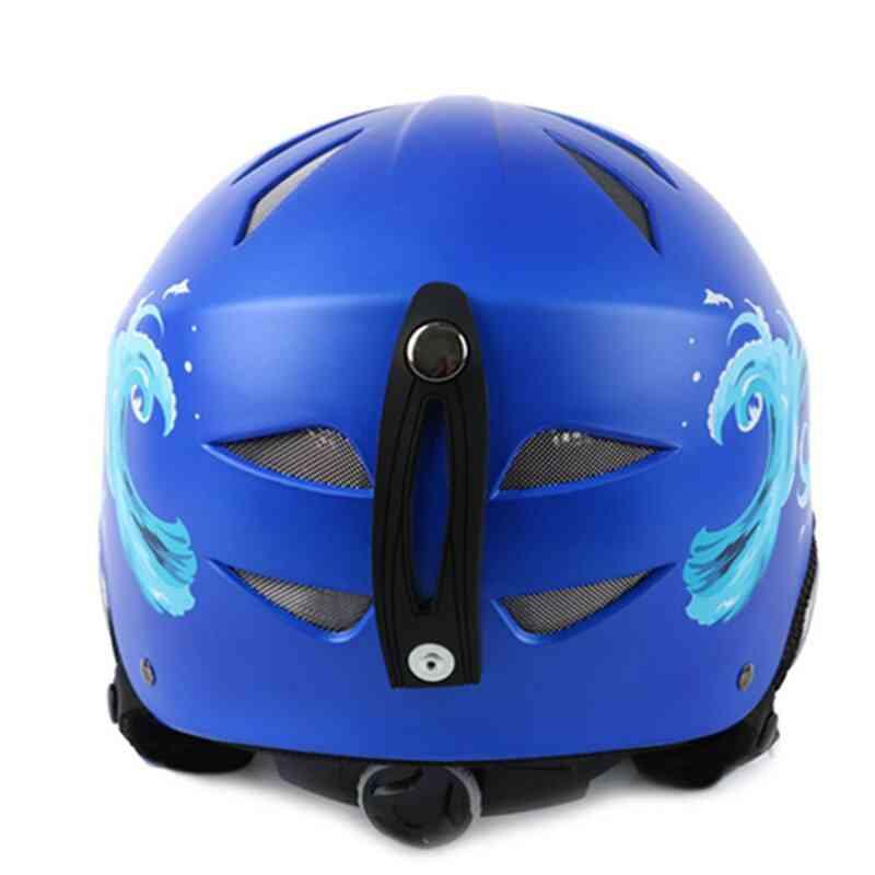 Integrally-molded Adjustable Snowboard Helmet