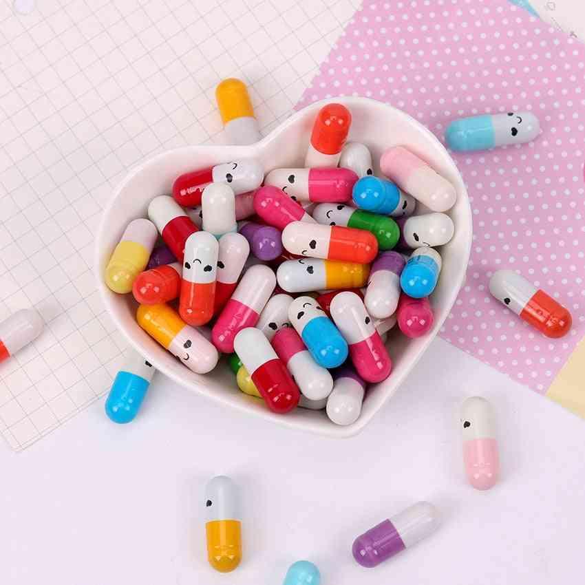 Children Capsule Letter Paper, Emoticon Smile Pill Love, Blank Message, Envelope