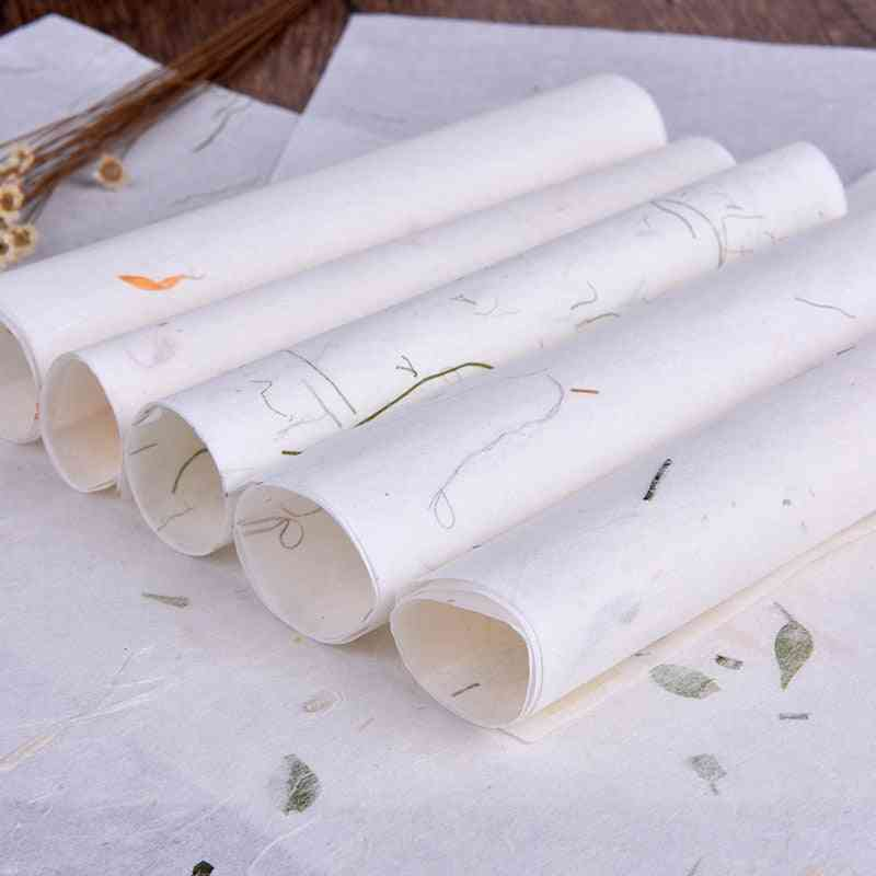Handmade Plant Soft Letter Paper, Stationery Drawing Calligraphy Writing, School Office Supplies