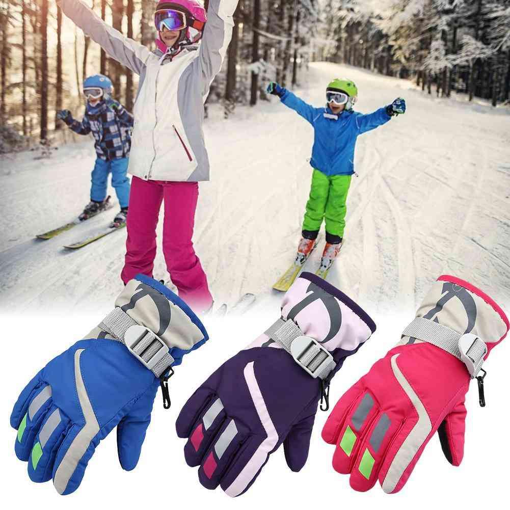 Children Snowmobile Winter Warm Ski Gloves