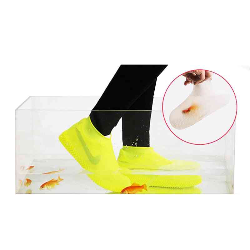 Reusable Waterproof Rainproof Shoes Covers Silicone Washable