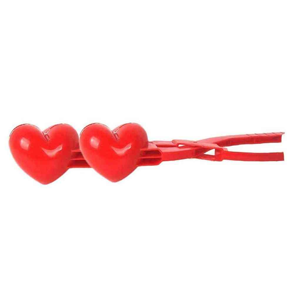 Heart Shaped Snowball Maker/clamp For Kids