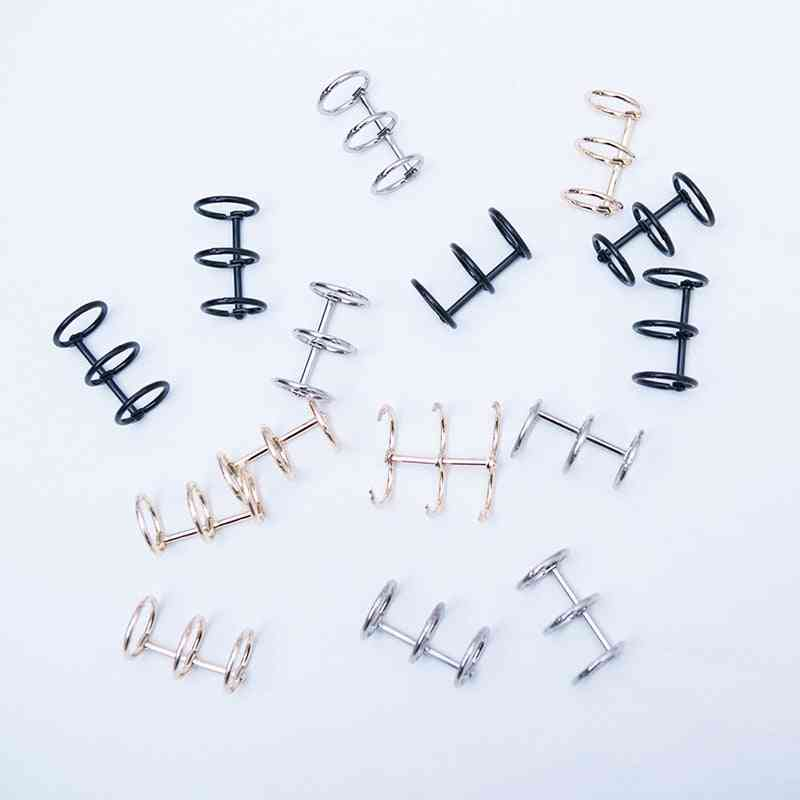 Metal Loose-leaf Iron Split Hinged Rings, Scrapbooking Binder Album, Calendar, Practical Notebook