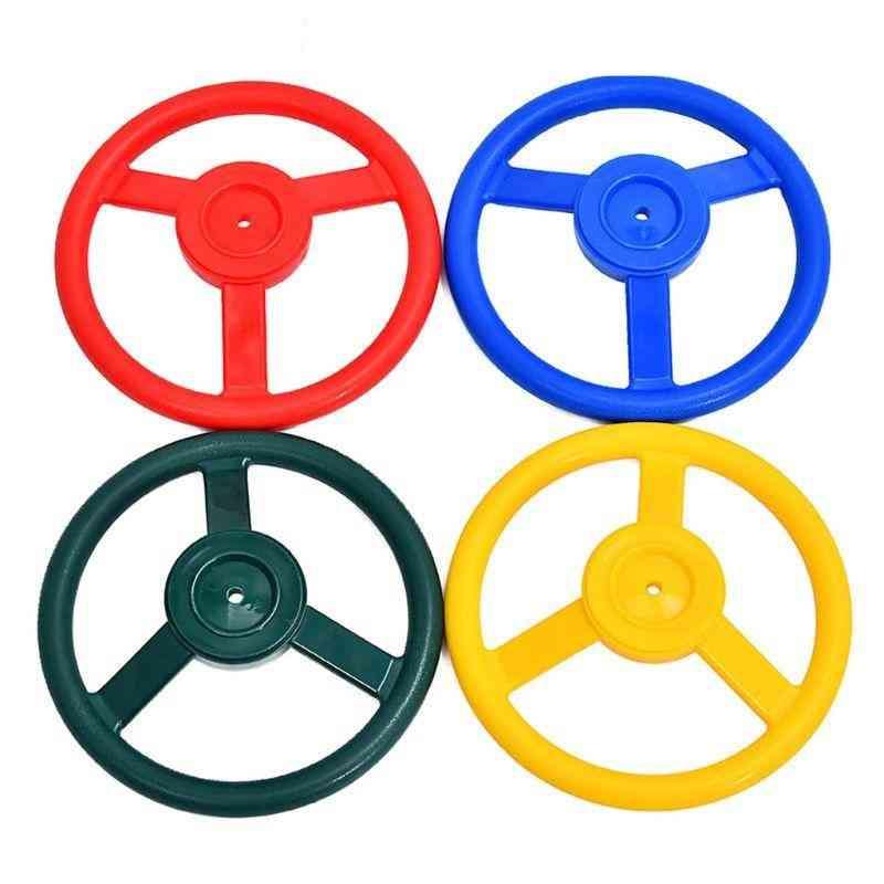 10 Inch Kids Plastic Steering Wheel Playhouse Jungle Gym Accessories