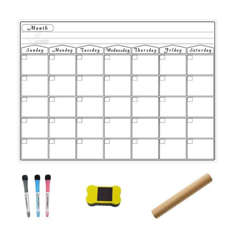 A3 Magnetic Monthly Planner Whiteboard Calendar Fridge Drawing Refrigerator Bulletin