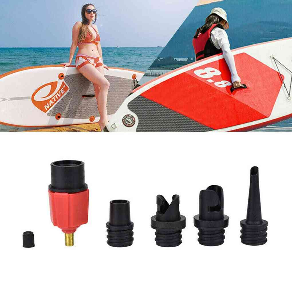 Sup Air Pump Adapter Inflatable Paddle Rubber Boat Kayak Air Valve