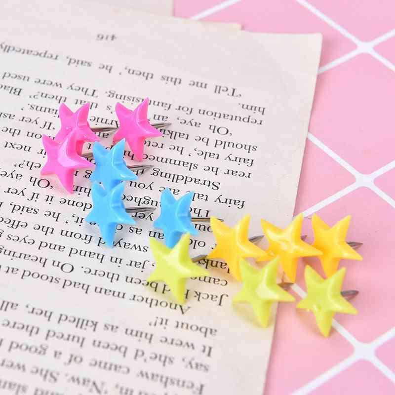 Flower Star Shape, Bulletin Thumb, Wall Tacks, Push Pins For Cork Board