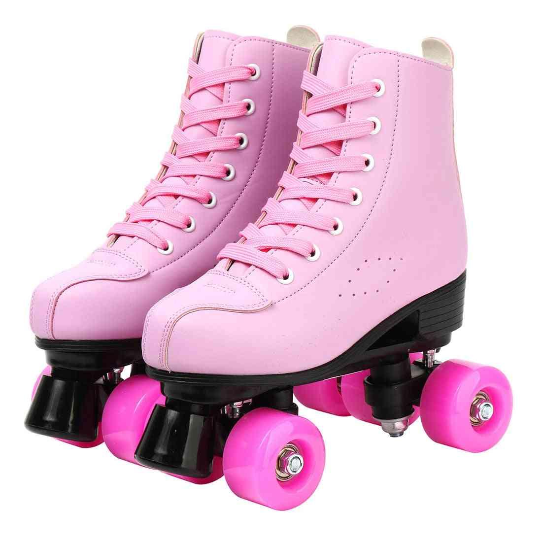 Women Microfiber Roller Skates, Skating Shoes