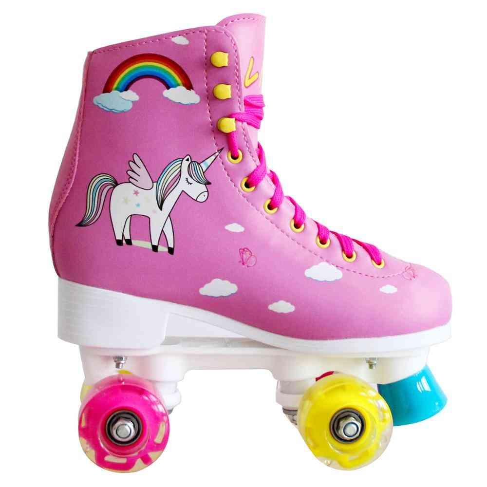 Led Light Balanced Skates, Double Roller Skate_shoes