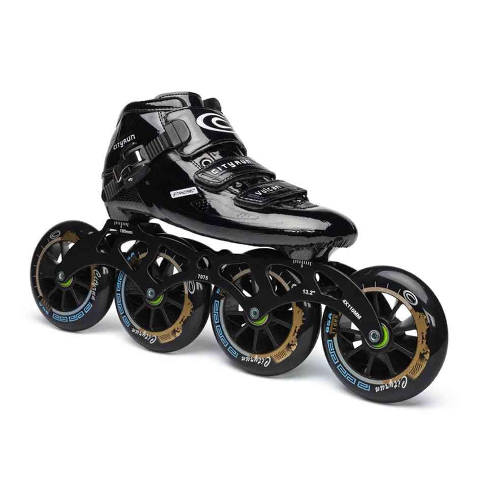 Carbon Fiber Cityrun Speed Inline Roller Skates For Kids Adult
