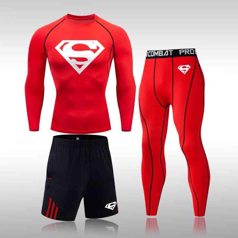 Tracksuit Men Sports Suit Gym Fitness Compression Clothes Exercise Workout