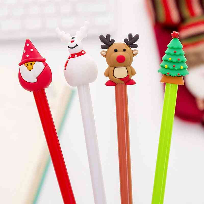 Cute Kawaii Plastic Gel Pen Lovely Cartoon Pen Writing Stationery Student Neutral Pen