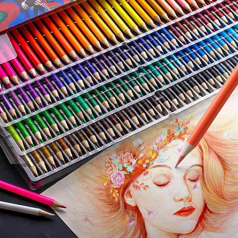 Brutfuner Colors Professional Oil Color Pencils Set Artist Painting Sketching Wood Color Pencil